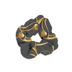 Gold Dog Cat Animal Jewel Velvet Scrunchie