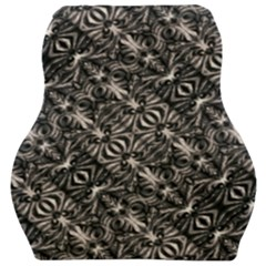 Modern Tribal Silver Ornate Pattern Print Car Seat Velour Cushion  by dflcprintsclothing