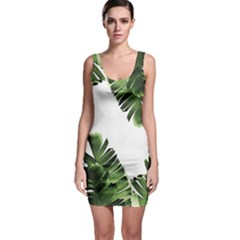 Banana Leaves Bodycon Dress by goljakoff