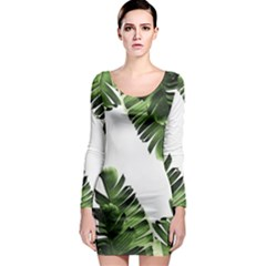 Banana Leaves Long Sleeve Bodycon Dress by goljakoff