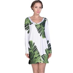 Banana Leaves Long Sleeve Nightdress by goljakoff