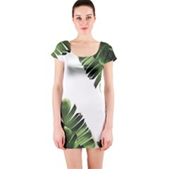 Banana Leaves Short Sleeve Bodycon Dress by goljakoff