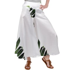 Banana Leaves Satin Palazzo Pants by goljakoff