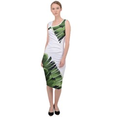 Banana Leaves Sleeveless Pencil Dress by goljakoff