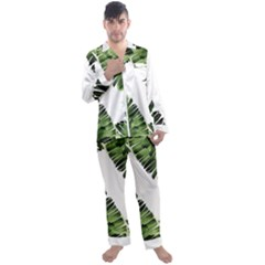 Banana Leaves Men s Long Sleeve Satin Pyjamas Set by goljakoff