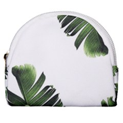 Banana Leaves Horseshoe Style Canvas Pouch by goljakoff