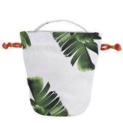 Banana Leaves Drawstring Bucket Bag by goljakoff