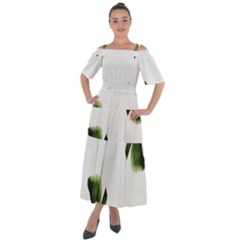 Banana Leaves Shoulder Straps Boho Maxi Dress  by goljakoff