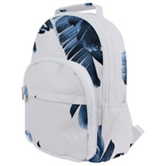 Blue Banana Leaves Rounded Multi Pocket Backpack by goljakoff
