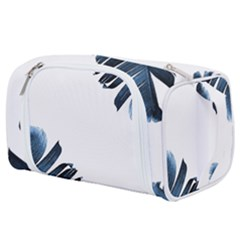 Blue Banana Leaves Toiletries Pouch by goljakoff