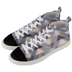 Modern Triangles Men s Mid-top Canvas Sneakers by LoolyElzayat