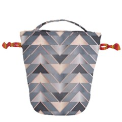Modern Triangles Drawstring Bucket Bag by LoolyElzayat