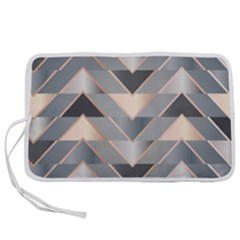 Modern Triangles Pen Storage Case (s) by LoolyElzayat