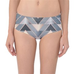 Modern Triangles Mid-waist Bikini Bottoms by LoolyElzayat