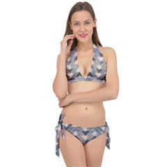 Modern Triangles Tie It Up Bikini Set