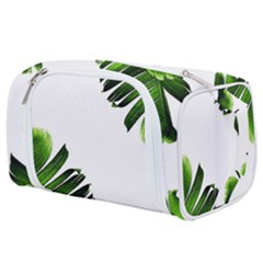 Green Banana Leaves Toiletries Pouch by goljakoff