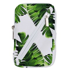 Green Banana Leaves Belt Pouch Bag (large)