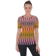 Zappwaits - Your Shoulder Cut Out Short Sleeve Top