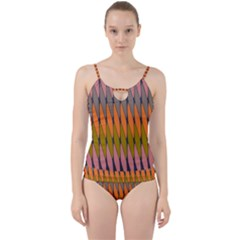 Zappwaits - Your Cut Out Top Tankini Set