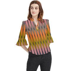 Zappwaits - Your Loose Horn Sleeve Chiffon Blouse