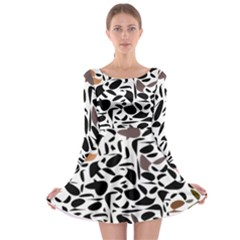 Zappwaits - Words Long Sleeve Skater Dress by zappwaits