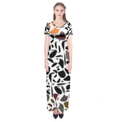 Zappwaits - Words Short Sleeve Maxi Dress by zappwaits