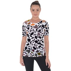 Zappwaits - Words Shoulder Cut Out Short Sleeve Top by zappwaits