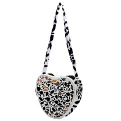 Zappwaits - Words Heart Shoulder Bag by zappwaits