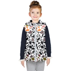 Zappwaits - Words Kids  Hooded Puffer Vest by zappwaits