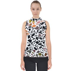 Zappwaits - Words Mock Neck Shell Top by zappwaits