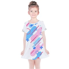 Abstract Geometric Pattern  Kids  Simple Cotton Dress