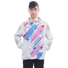 Abstract Geometric Pattern  Men s Half Zip Pullover