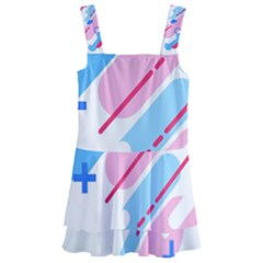 Abstract Geometric Pattern  Kids  Layered Skirt Swimsuit by brightlightarts