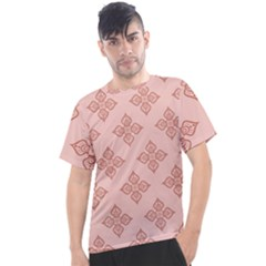 Pattern Floral Design Peach Men s Sport Top by brightlightarts
