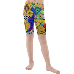 Supersonicplanet2020 Kids  Mid Length Swim Shorts by chellerayartisans