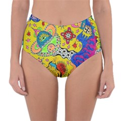 Supersonicplanet2020 Reversible High-waist Bikini Bottoms by chellerayartisans