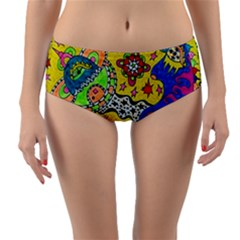 Supersonicplanet2020 Reversible Mid-waist Bikini Bottoms by chellerayartisans