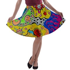 Supersonicplanet2020 A-line Skater Skirt