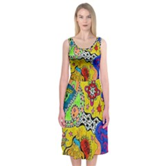 Supersonicplanet2020 Midi Sleeveless Dress