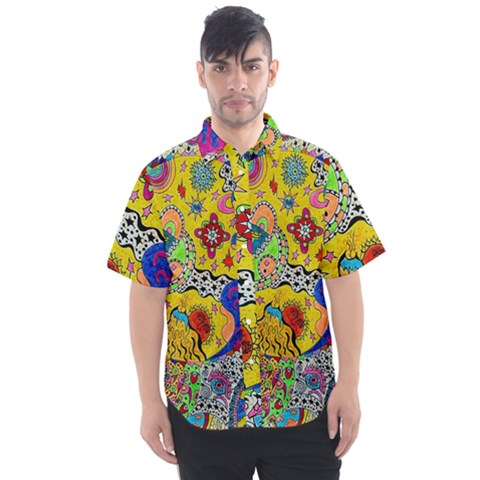Supersonicplanet2020 Men s Short Sleeve Shirt by chellerayartisans
