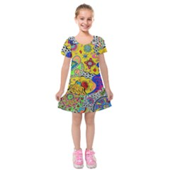 Supersonicplanet2020 Kids  Short Sleeve Velvet Dress