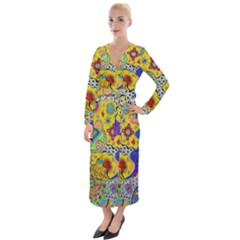 Supersonicplanet2020 Velvet Maxi Wrap Dress by chellerayartisans