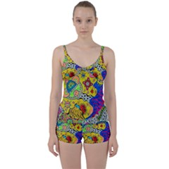 Supersonicplanet2020 Tie Front Two Piece Tankini by chellerayartisans