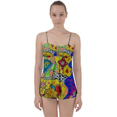 Supersonicplanet2020 Babydoll Tankini Set by chellerayartisans