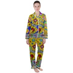 Supersonicplanet2020 Satin Long Sleeve Pyjamas Set by chellerayartisans