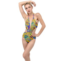 Supersonicplanet2020 Plunging Cut Out Swimsuit by chellerayartisans