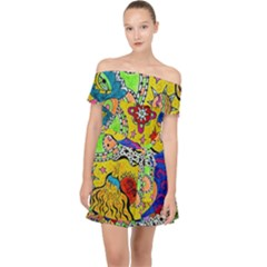 Supersonicplanet2020 Off Shoulder Chiffon Dress