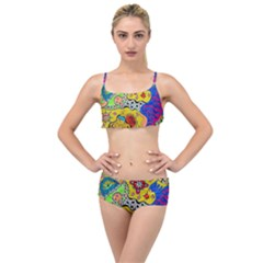 Supersonicplanet2020 Layered Top Bikini Set by chellerayartisans