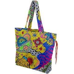 Supersonicplanet2020 Drawstring Tote Bag by chellerayartisans