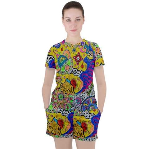 Supersonicplanet2020 Women s Tee And Shorts Set by chellerayartisans